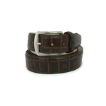 Matte Mock Gator Belt - Oak