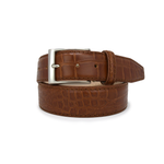 Matte Mock Gator Belt - Scotch