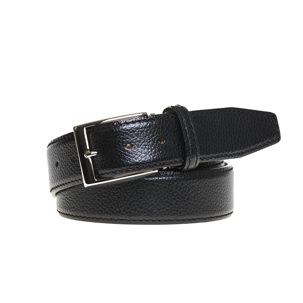 Pebble Grain Belt - Black