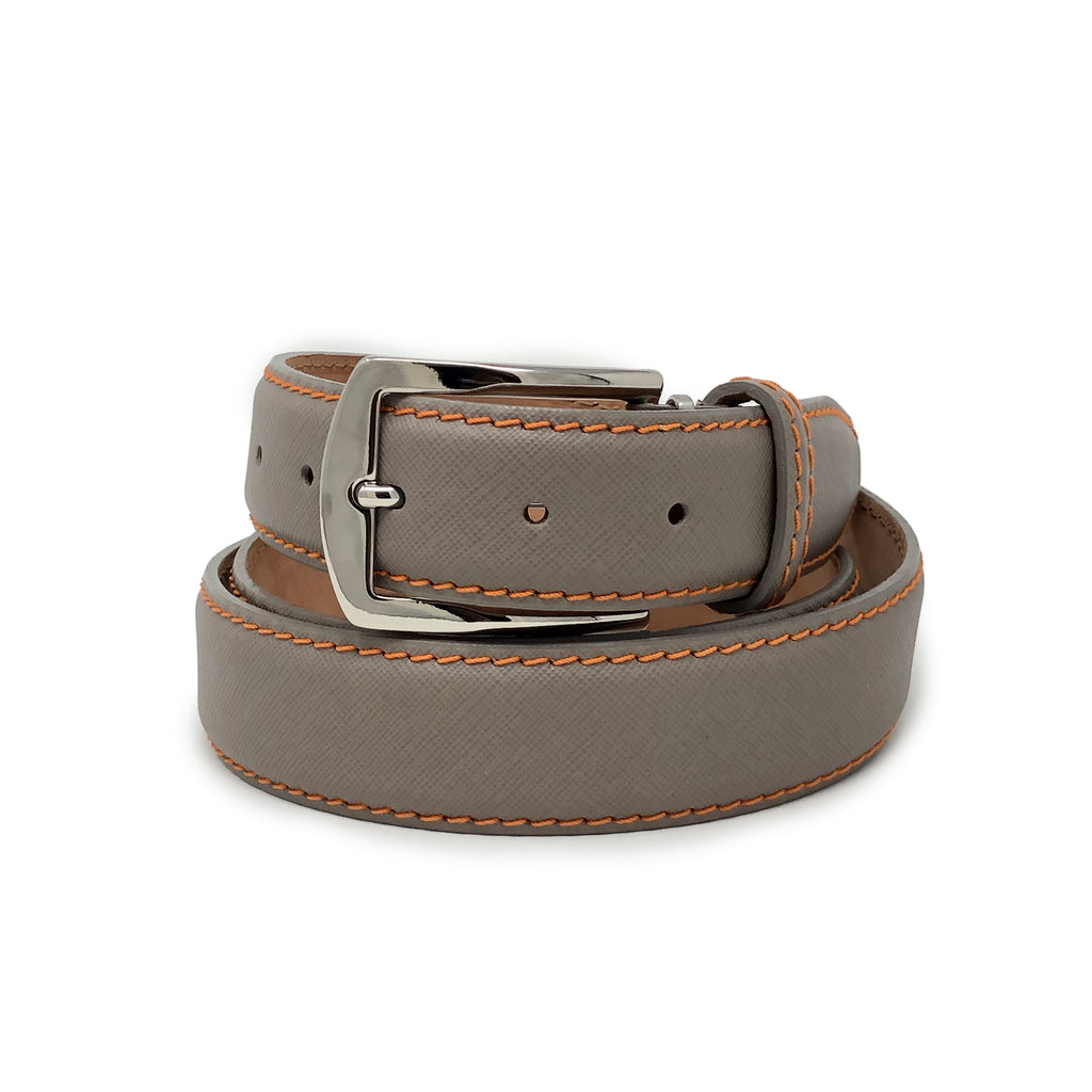 SAMPLE SALE - Saffiano Belt - Grey