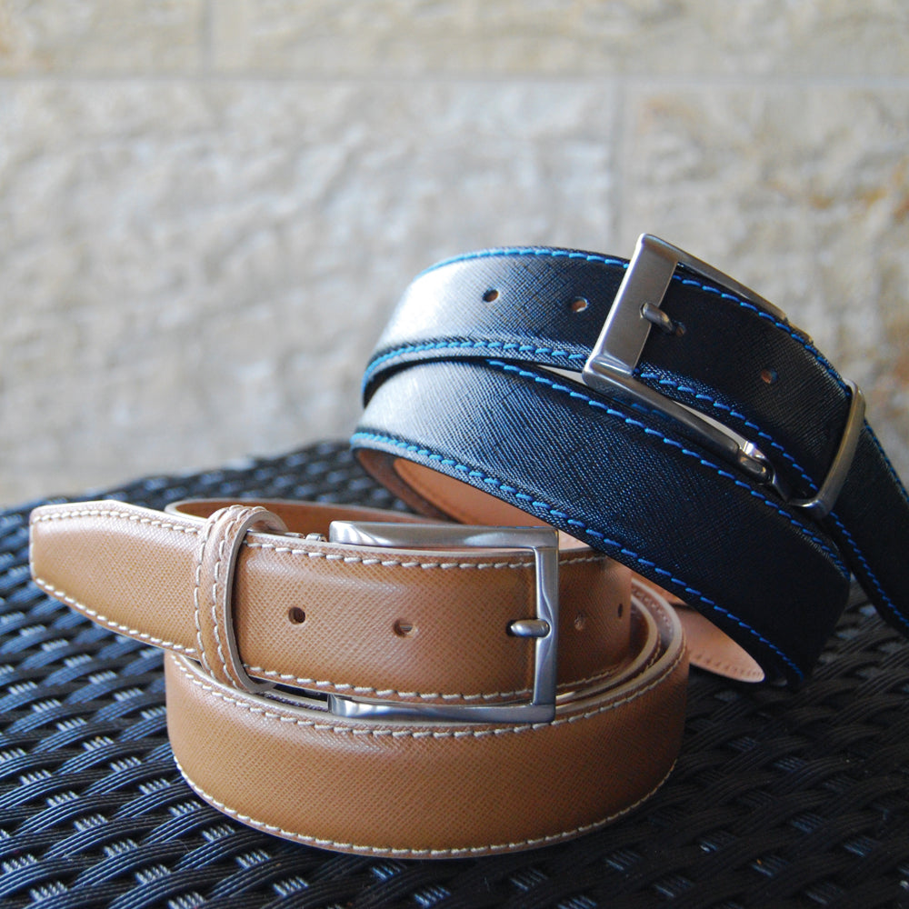 Saffiano Belt - Tan