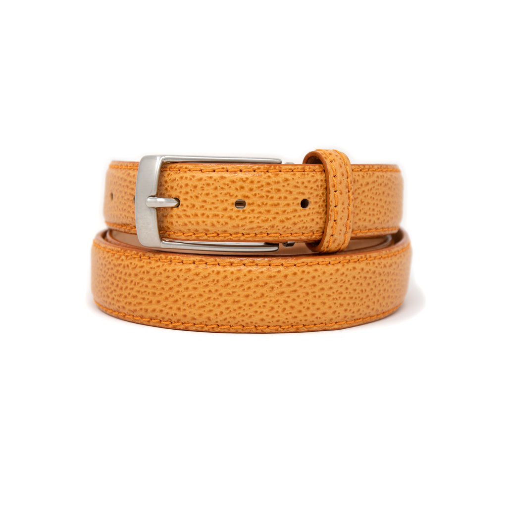 SAMPLE SALE - Pebble Grain Belt 30mm - Orange