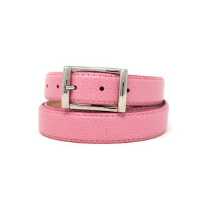 SAMPLE SALE - Pebble Grain Belt 30mm - Pink