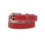 SAMPLE SALE - Pebble Grain Belt 30mm - Red