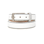 SAMPLE SALE - Pebble Grain Belt 30mm - White
