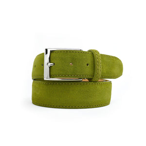 Classic Suede Belt - Olive