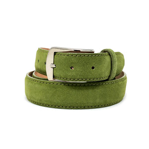 SAMPLE SALE - Classic Suede Belt - Olive