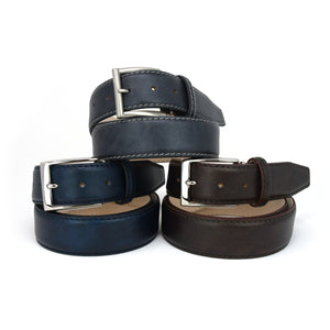 Italian Surf Calf Skin Belt - Granite
