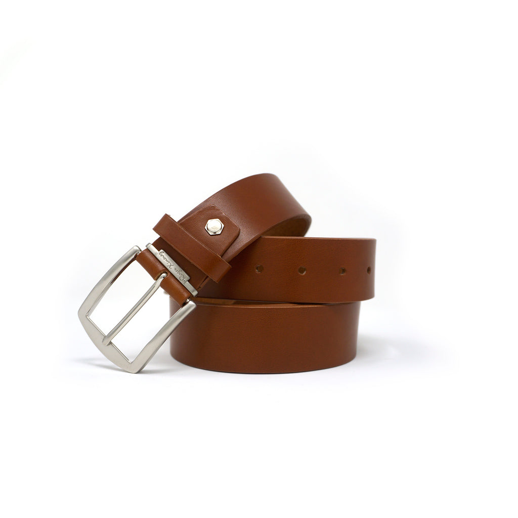 Italian Vachetta Leather Belt - Cognac