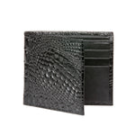 Men's Mock Croc Wallet - Black