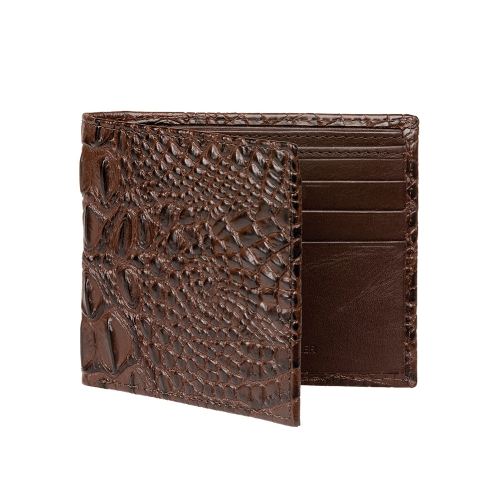 Men's Mock Croc Wallet - Brown