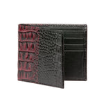 Men's Two-toned Wallet - Wine