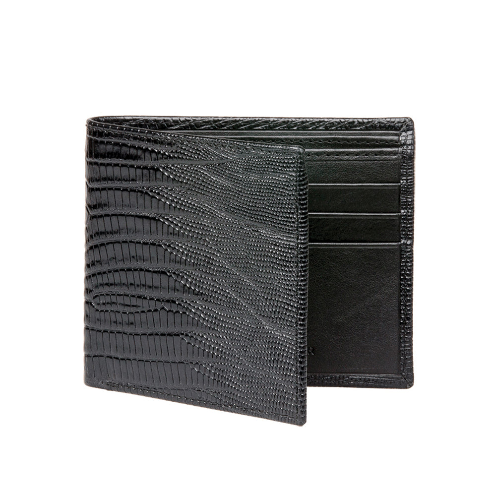 Men's Mock Lizard Wallet - Black