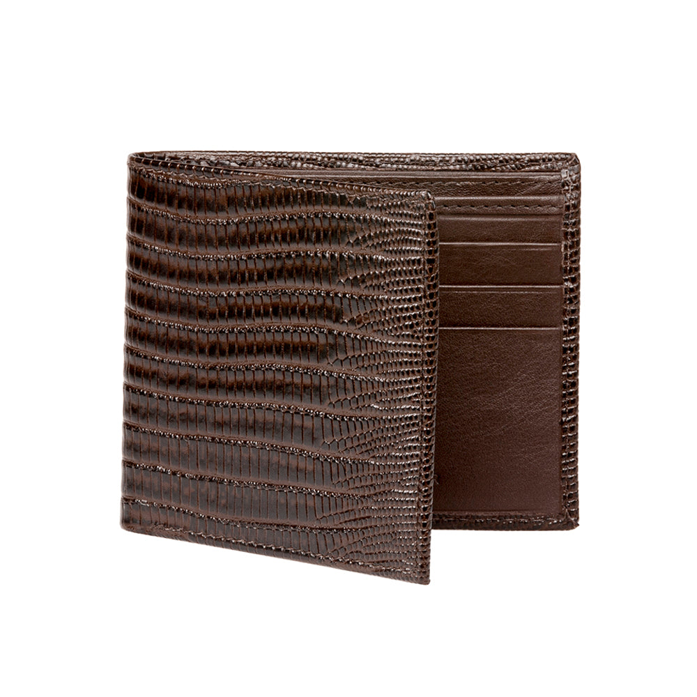 Men's Mock Lizard Wallet - Brown