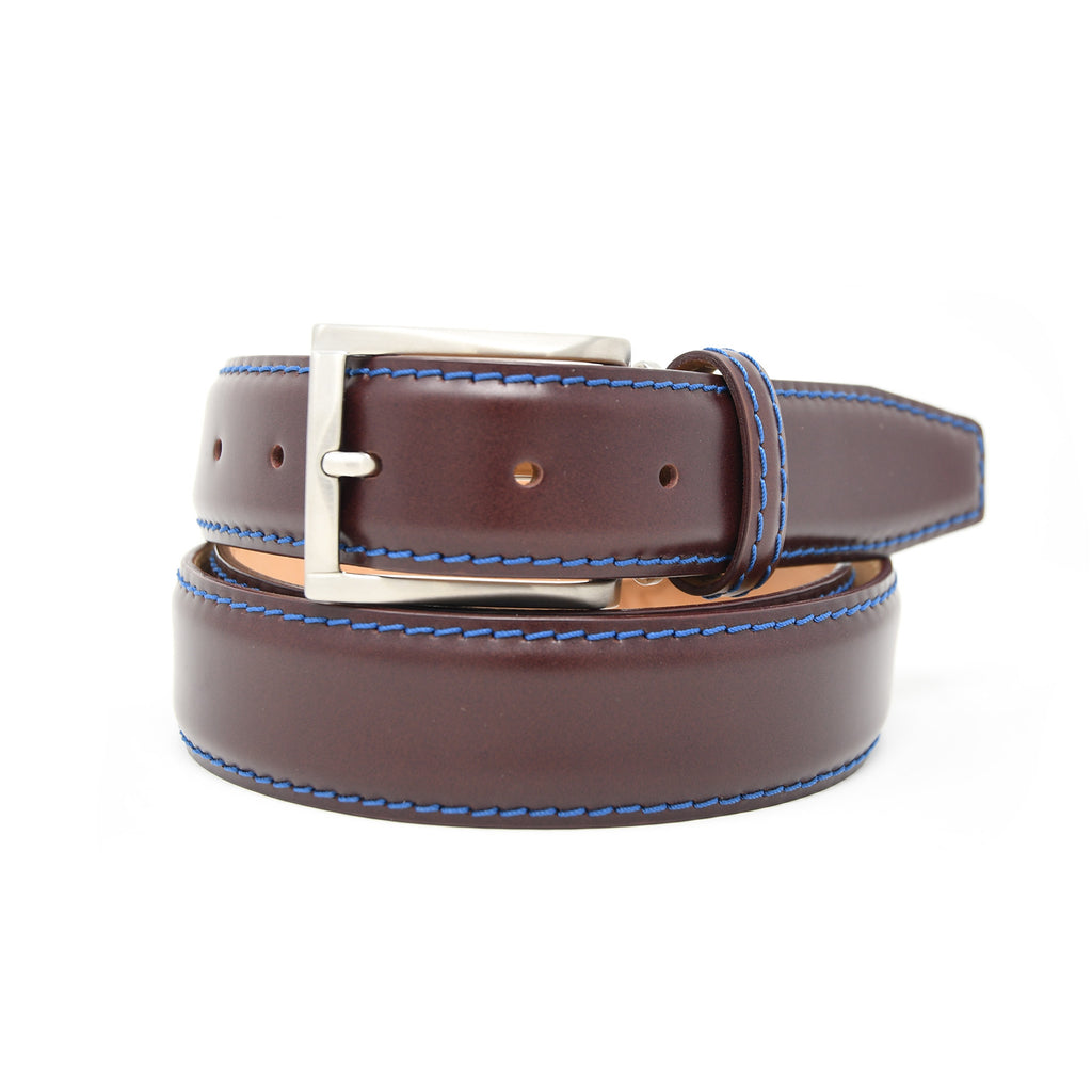 SAMPLE SALE - French Calf Belt - Burgundy