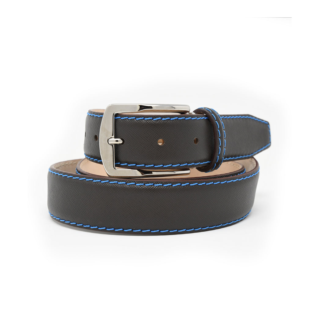 SAMPLE SALE - Saffiano Belt - Brown