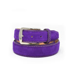 SAMPLE SALE - Classic Suede Belt - Purple