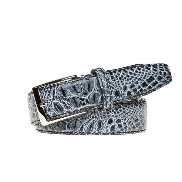 Antique Faux Crocodile Belt - Shadow