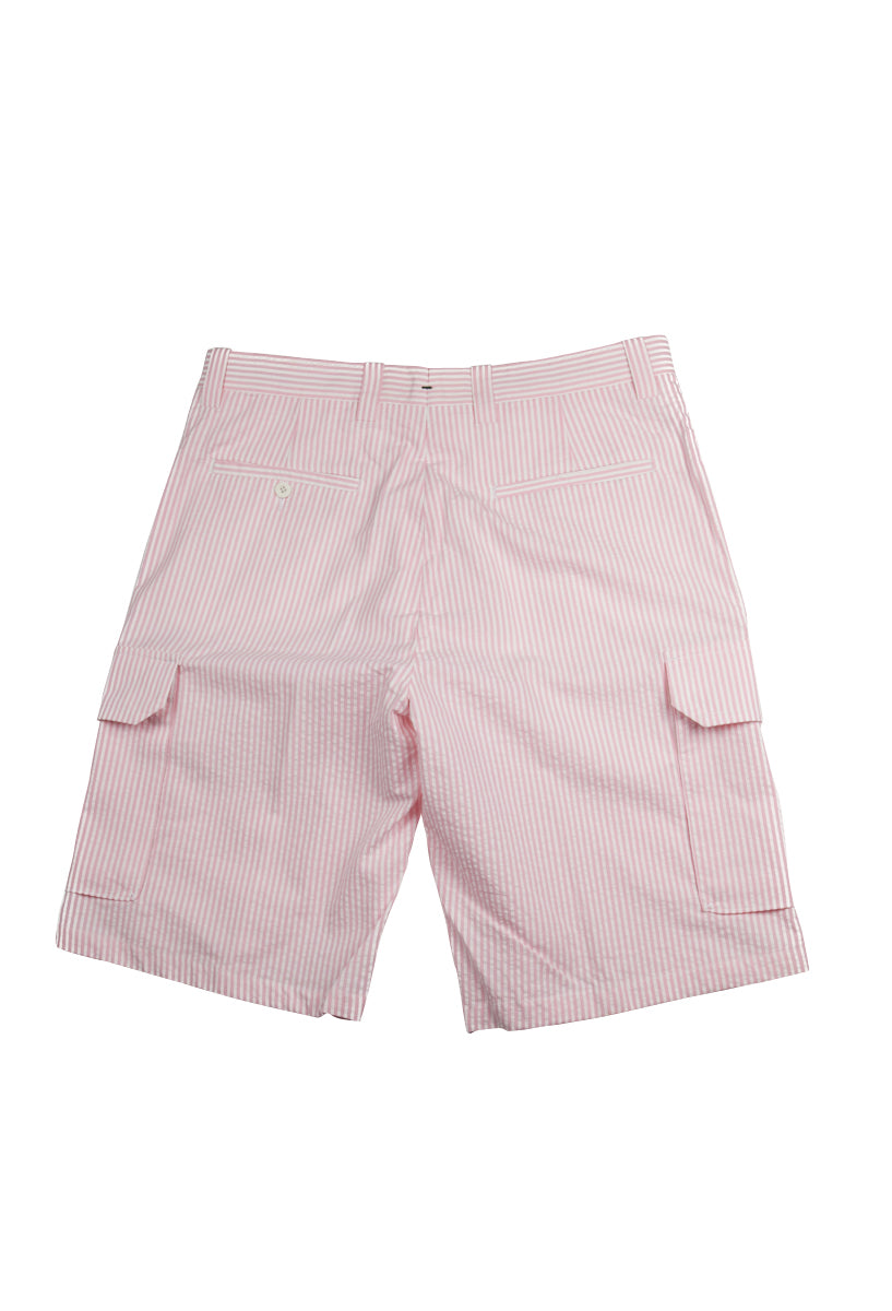 Del Mar 6 Pocket Cargo - Pink & White