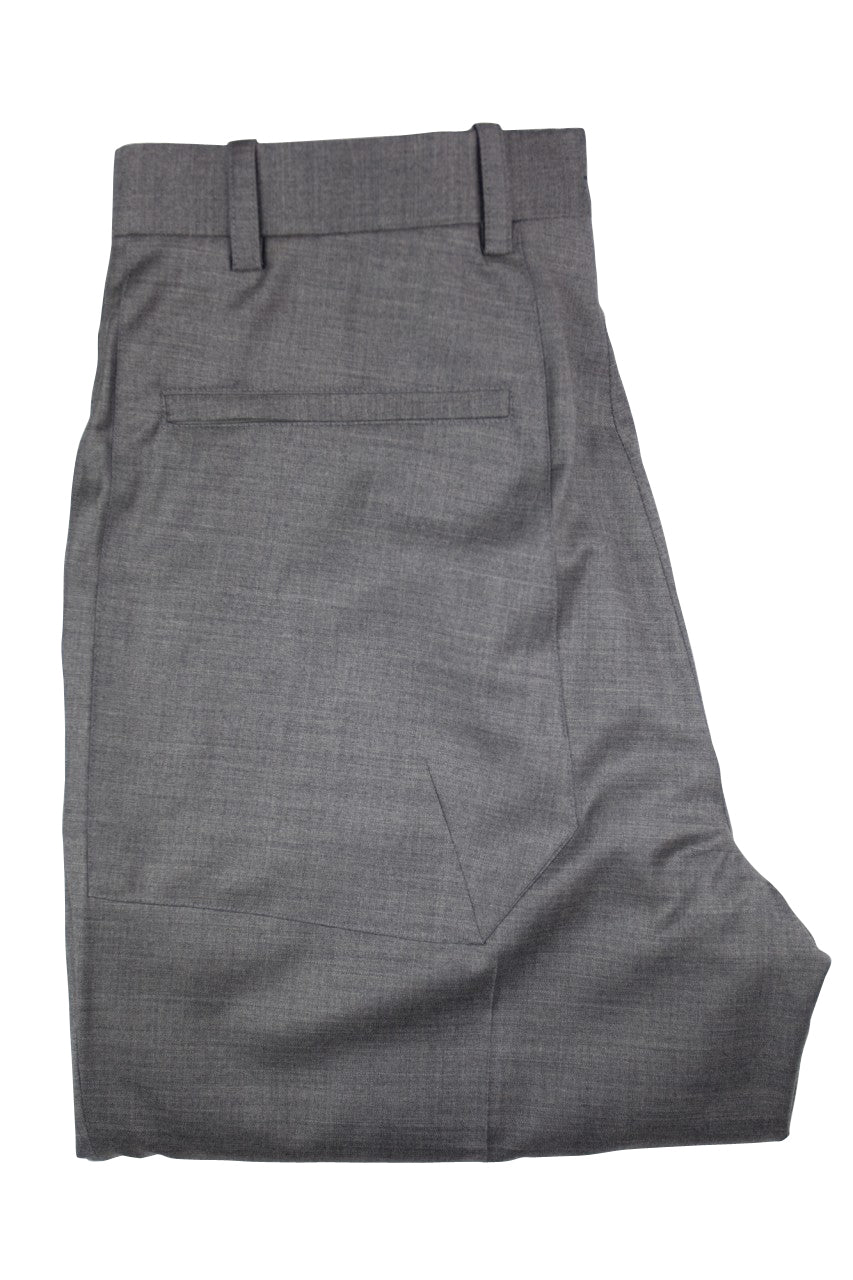 Aspen Flat Front Trouser with patch and zip pockets  - Ash Grey