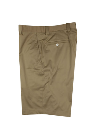 Monterey Flat Front Short - Tan (Cotton)