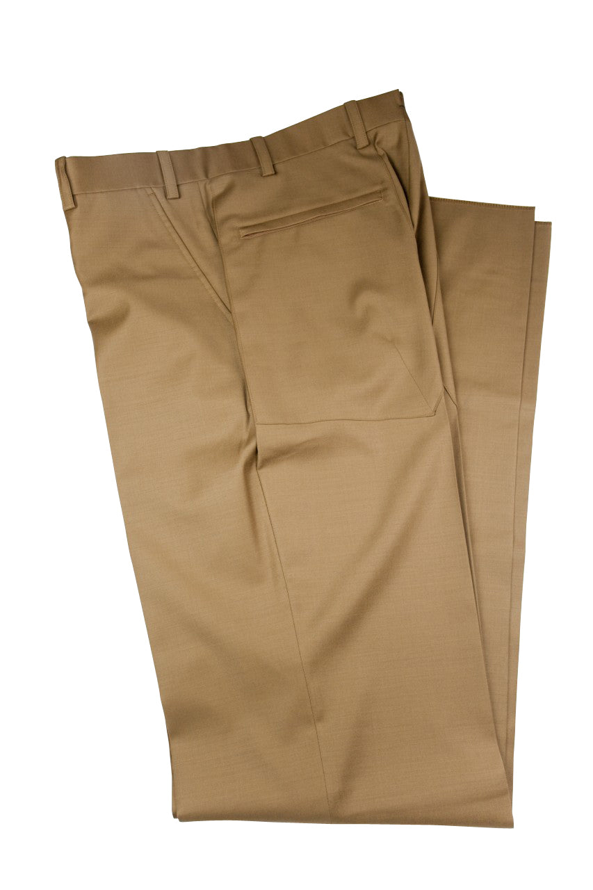 Aspen Flat Front Trouser with patch and zip pockets - Tobacco Tan