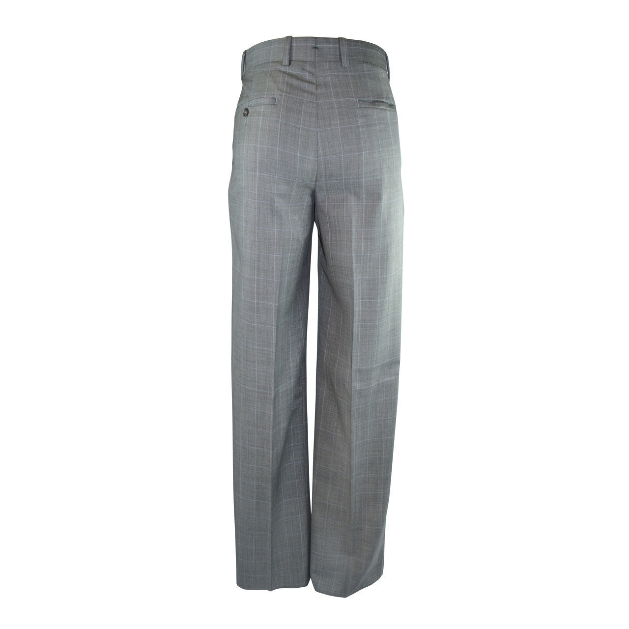 Laguna Flat Front Trouser - Grey Windowpane