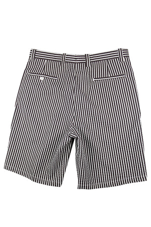 Monterey Flat Front Short - Black/Brown Tech