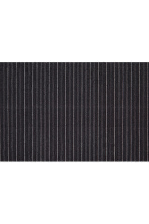 Monterey Flat Front Short - Noir Black Thin/Thick Stripe