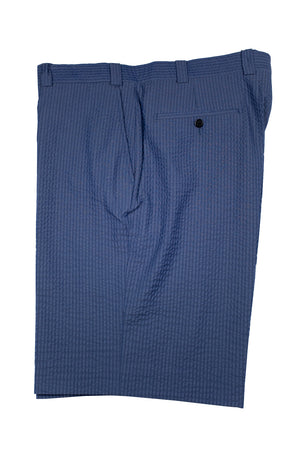 Monterey Flat Front Short - Medium Blue Tech