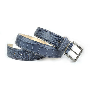 Mock Crocodile Belt - Gray