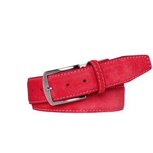 Classic Suede Belt - Red