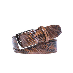 Genuine Glazed Python - Brown