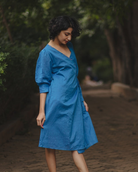 Out Of The Blue Wrap Dress