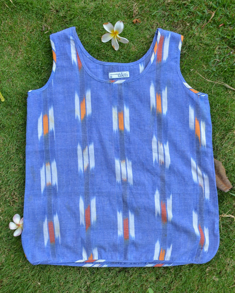 Summer Breeze in Blue Ikat