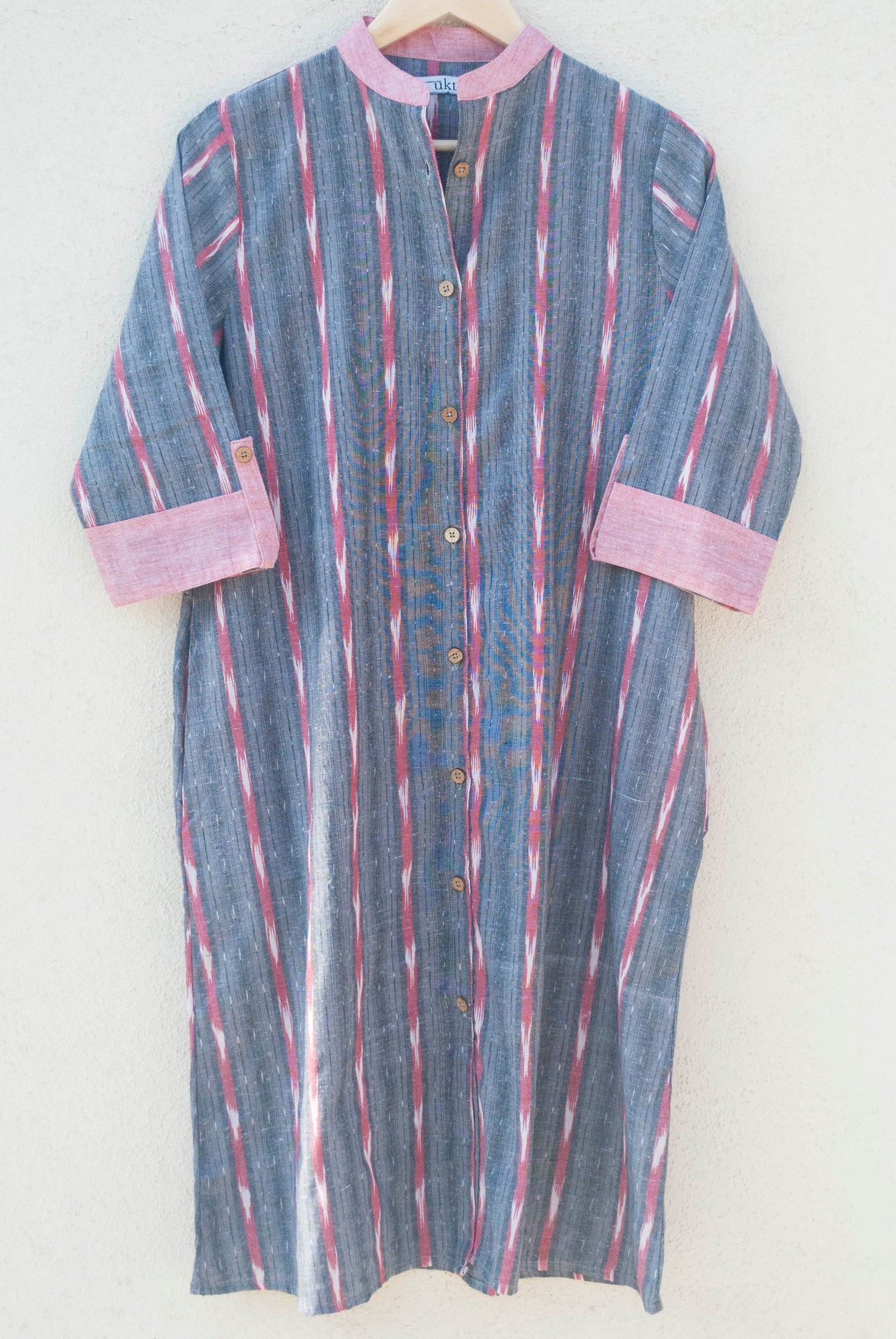 Grey Ikat Dress / Kurta