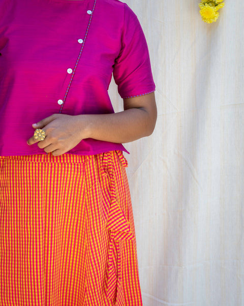 Yenta Yellow & Pink Skirt