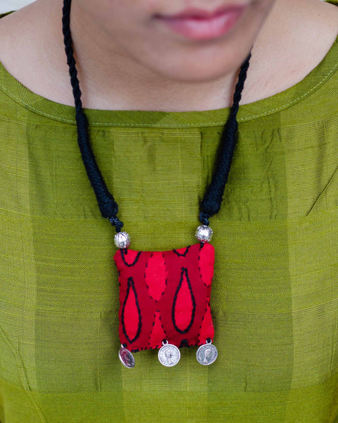 Koi Embroidered Neckpiece