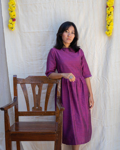 Virago Silk Cotton Dress - Last Two Only!