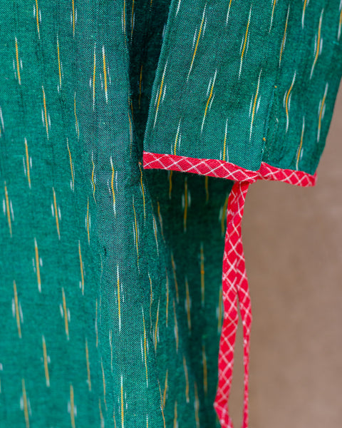 Green Ikat Shift Dress