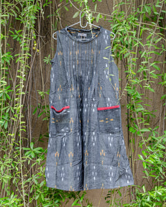 Grey Ikat A-Line Dress