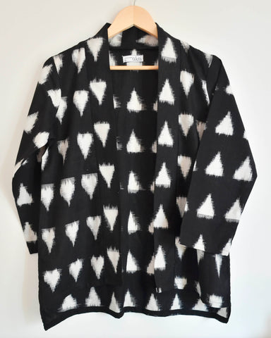 Black Ikat Shrug