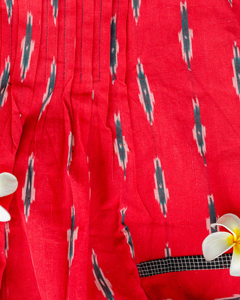 Red Ikat A-Line Dress - Last Two Only!
