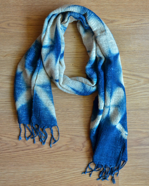 Tie & Dye Scarf in Dark Blue (SF 41)