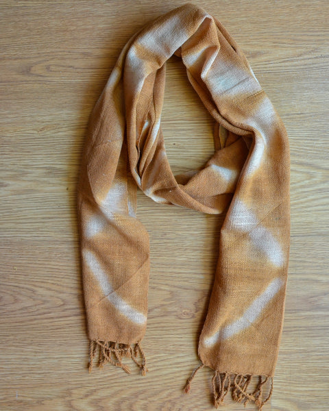 Tie & Dye Scarf in Light Brown (SF 33)