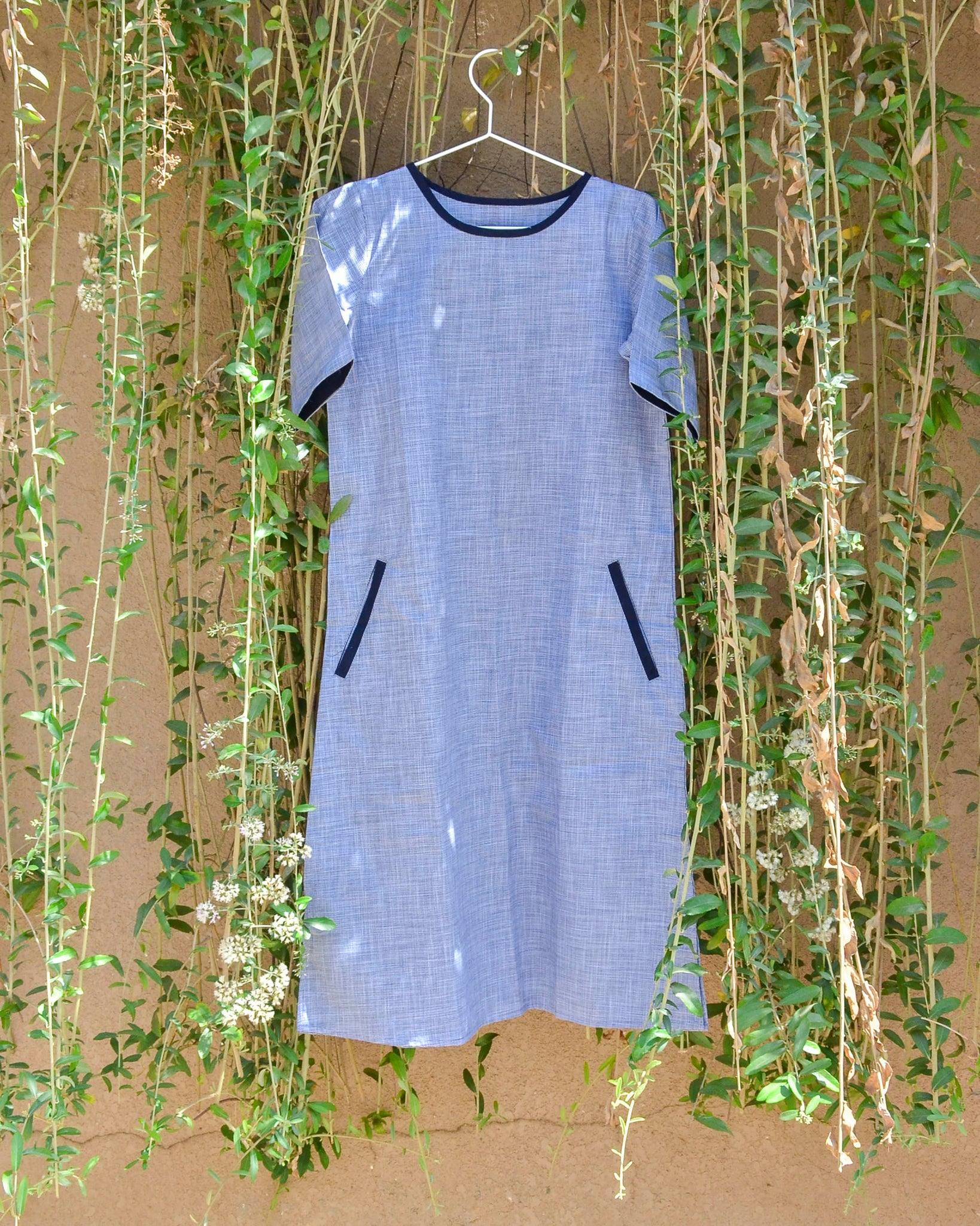 Navy Blue A-Line Dress
