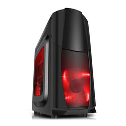 CiT Dragon 3 Black/Red Midi PC Gaming Case