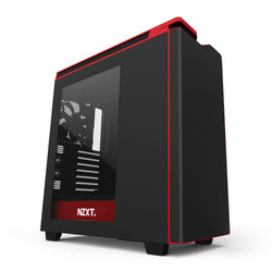NZXT H440 New Edition Matte Black/Red Gaming Case with Window