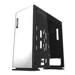 Game Max Vega White PC Gaming Case With RGB Strip & PWM Controller Perspex Side Windows