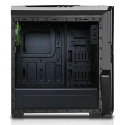 CIT G Force Black Midi Gaming Case With Green LED Fans, USB2 & USB 3